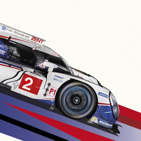 Toyota WEC Racing Posters