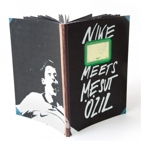 Nike meets Mesut zil Nike Football Rocket Wink Design Illustration Book Notebook