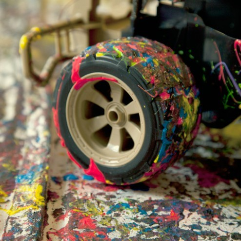 The Coloured Wheel Tracks Art Mini Car Drive Color Rocket WInk Video Vimeo Project